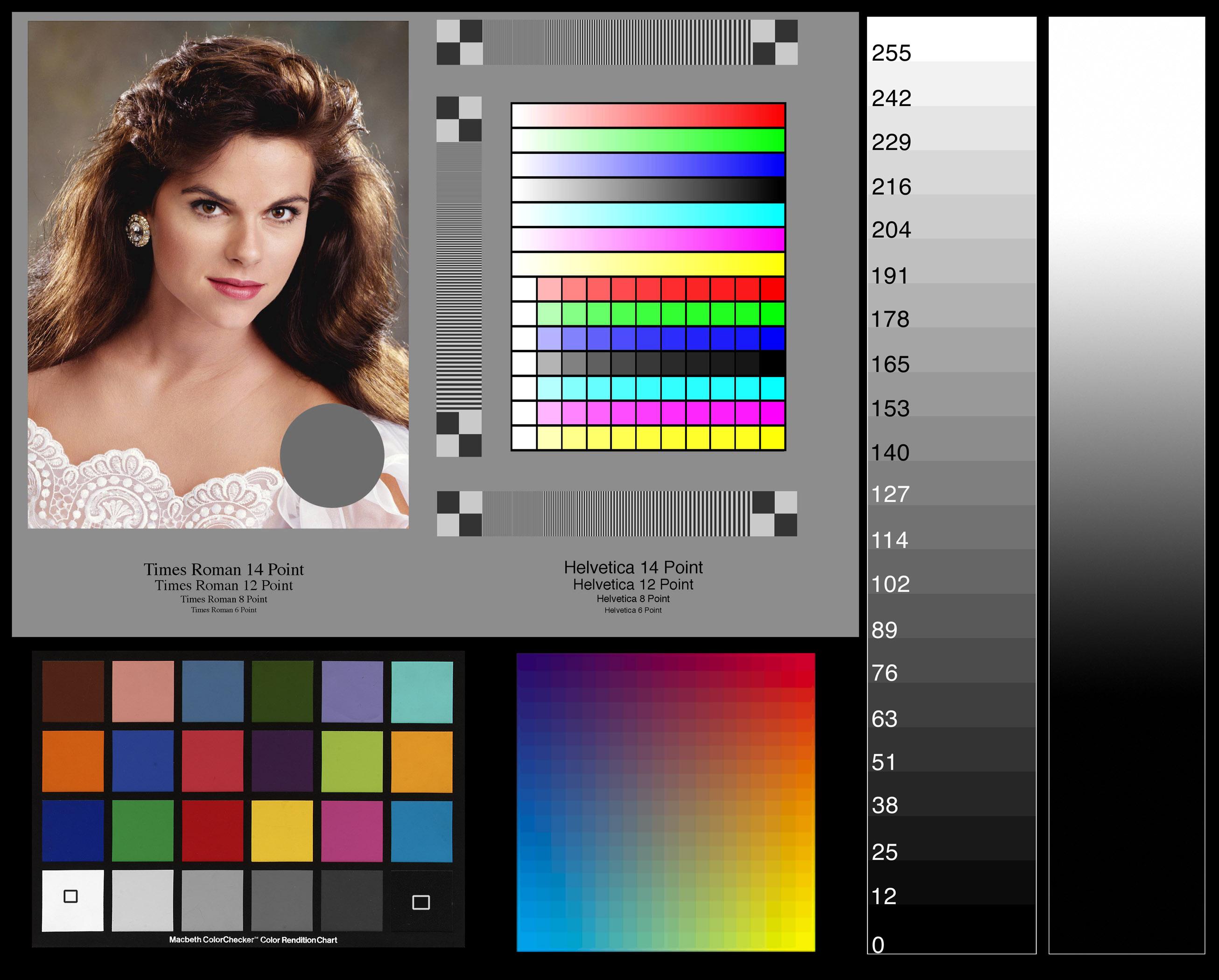 Color print test image - Print Color Test 27